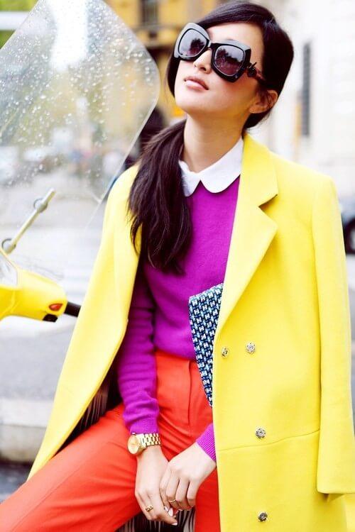Яркие сочетания - Фуксия и желтый