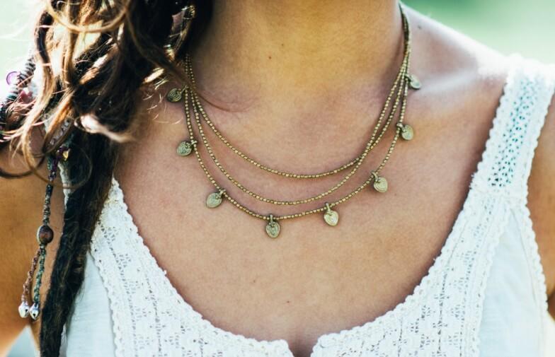 Как правильно носить украшения с круглым вырезом - Бусы